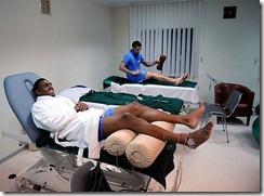la sala de masajes