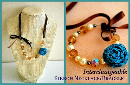 Interchangeable Ribbon Necklace to Bracelet - The Silly Pearl