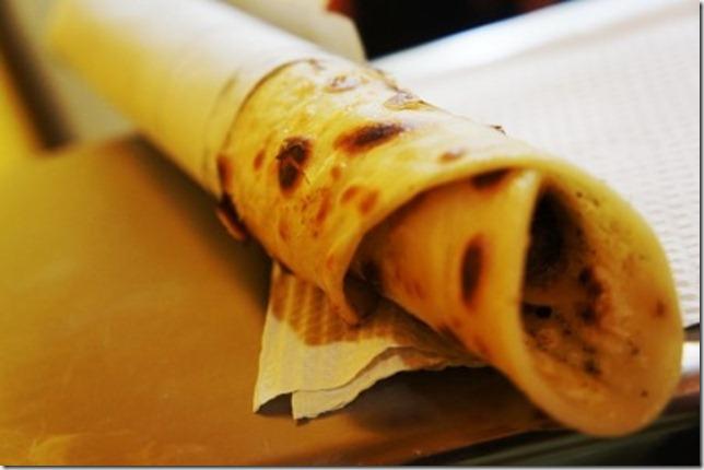 paratha of mutton roll