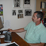 Tom Drexler, Executive Director, hard at work in our old offices at St. Gertrude Parish.