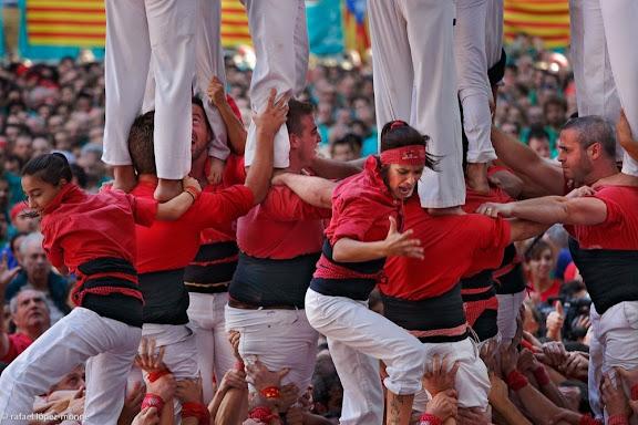 Nou de vuit. Colla Jove Xiquets de Tarragona. XXIVè Concurs de Castells de Tarragona. Tarraco Arena Plaça. Tarragona, Tarragonès, Tarragona