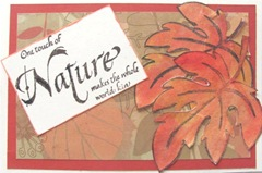 AAWA Oct. 11 make n take leaves post card