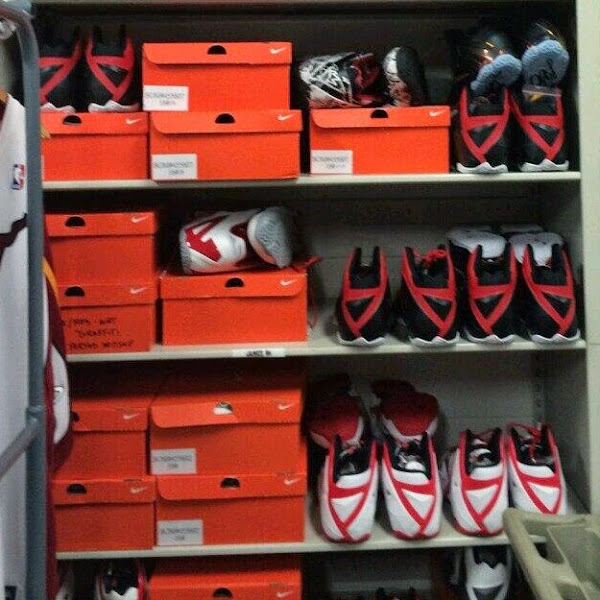 This is LeBron8217s Locker Inside American Airlines Arena Full of PEs