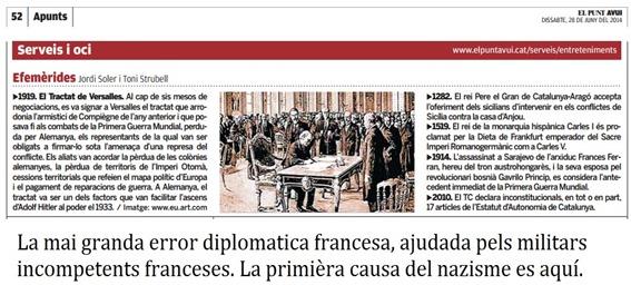commemoracion tractat de Versailles