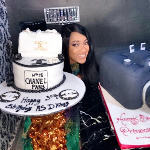 Gossip girl Oh wow Check out actress Rukky Sandas birthday cake