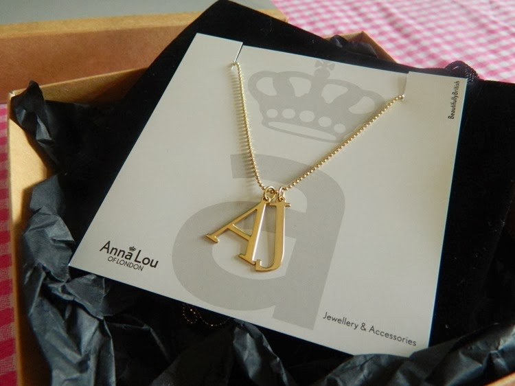 Anna Lou of London Gold Initial Necklace