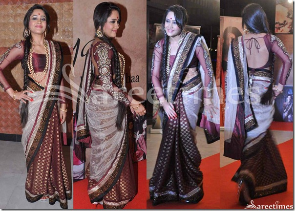 Off_White_and_Maroon_Half_and_Half_Saree
