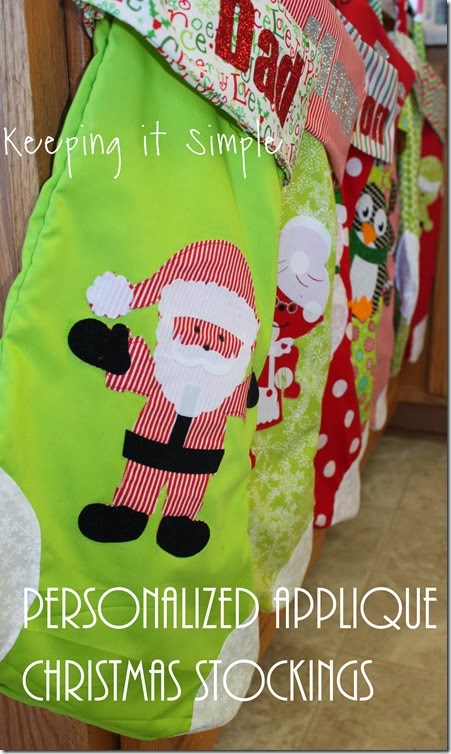 #fabulouslyfestive DIY Applique Stockings