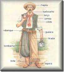 Curso de Danças Gaúchas de Salão: Gaúcho vestindo a indumentária tradicional