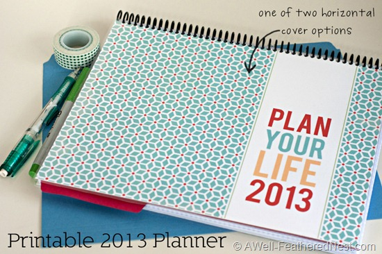 Calendar Planner Cover : A well feathered nest plan your life printable planning