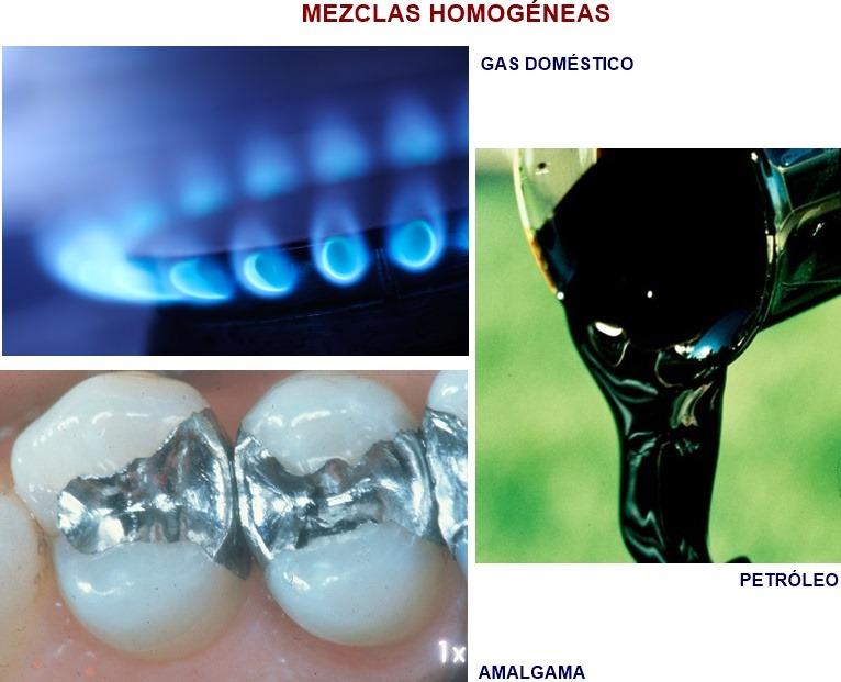 Ejemplos de mezclas homogeneas
