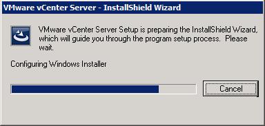 VMware vCenter Server - InstallShield - Configuring Windows Installer