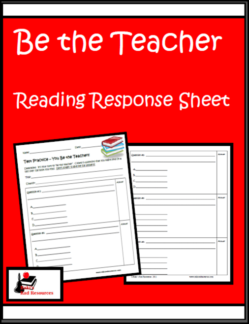 Resources to keep students reading books they enjoy while keeping them accountable for their learning.  Resources from Raki's Rad Resources - be the teacher sheet