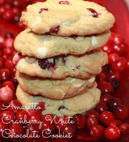 Amaretto Cranberry White Chocolate Cookies