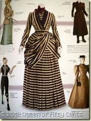 Striped and Pleated Dress