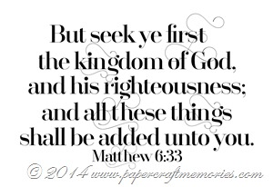 Matthew 6:33 WORDart by Karen for WAW personal use