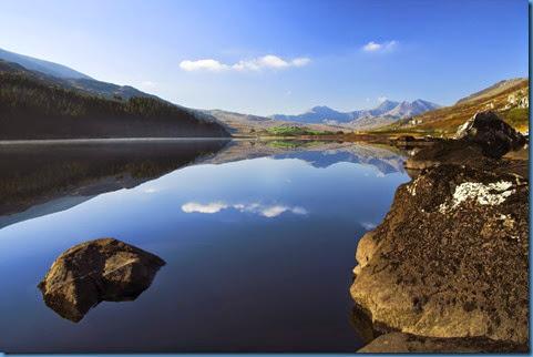 mountain lake in wales uk