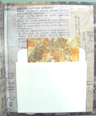 book sewing themed inside back cover pocket w atc