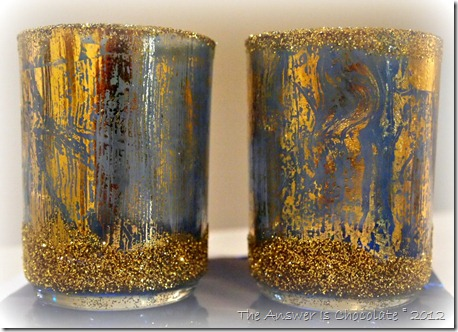 Mod Podged Hanukkah Votives