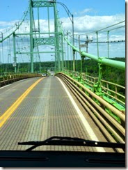 At the top of Thousand Islands Bridge