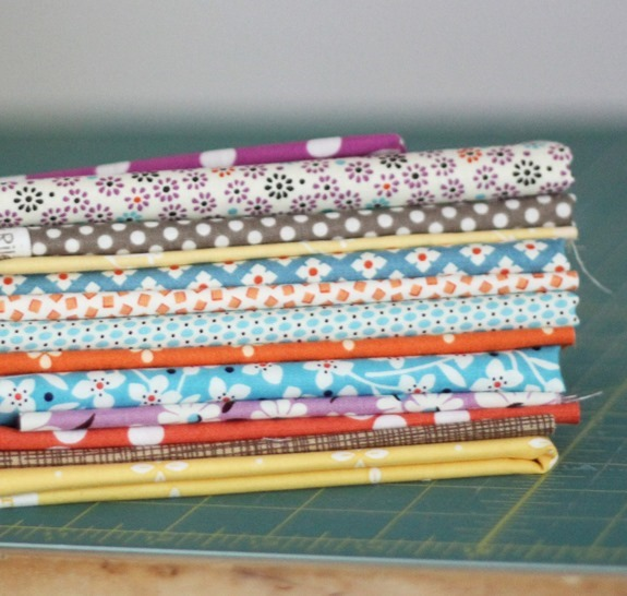 Fall fabric stack, Cluck Cluck Sew