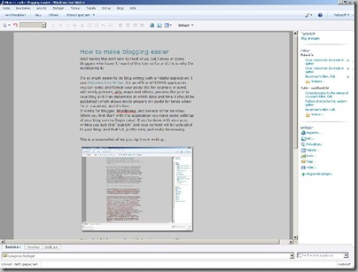 screenshot Live Writer