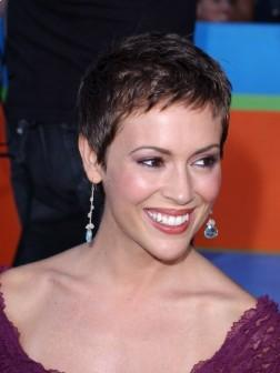 Alyssa Milano celebrity Short Haircut Style