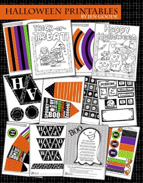 Halloween printables by jen goode