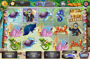 Screenshot of Diving Vacations Slots