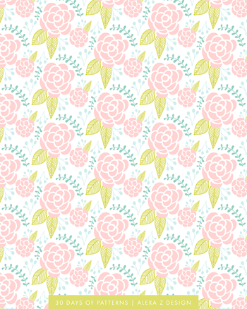 floral pattern 30 Days of Patterns Alexa Z Design