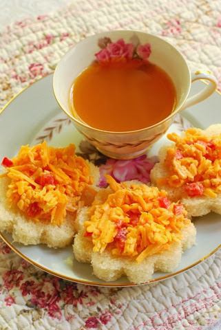 pimento and cheese tea sandwiches