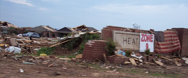 Homes lost in the Moore tornado.
