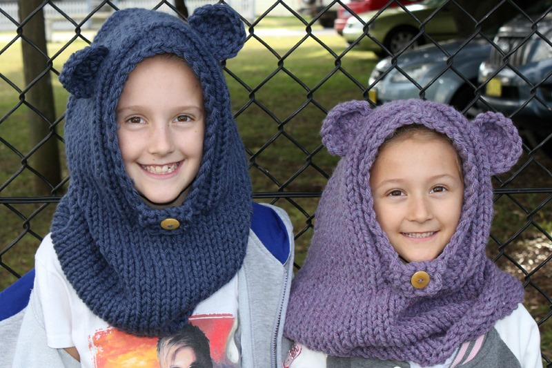 burton bear cowls on the girls
