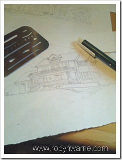 Custom House Ornament design sketch