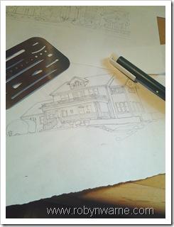 Custom House Ornament design sketch