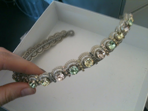 I thought this pastel headband from Jenny Packham was so lovely.