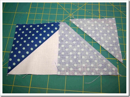 sew and trim second flying geese square