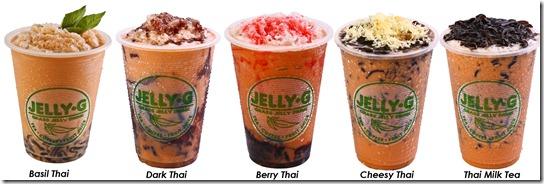 Jelly G Thai Milk Tea drinks