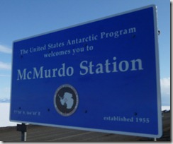 Welcome to McMurdo!