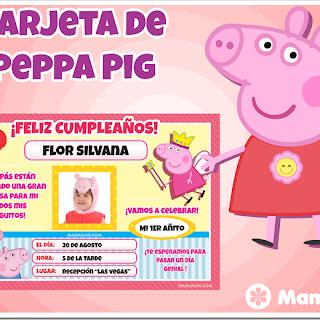 Tarjeta de Peppa Pig – Pepa la cerdita, para Imprimir