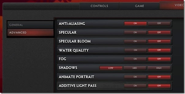 Dota 2 Video Settings