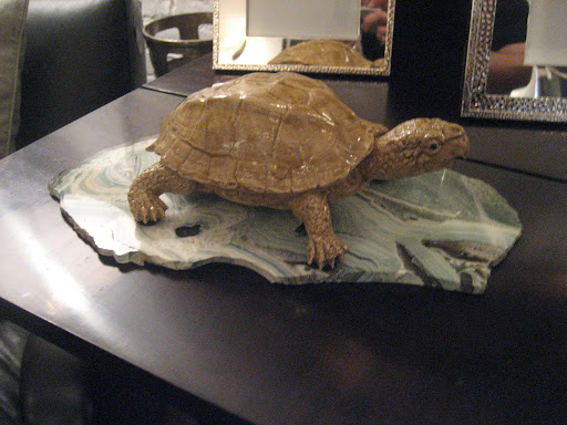 This ceramic turtle has such character.
