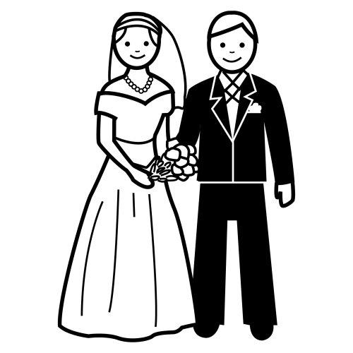 Matrimonio Catolico Para Colorear : Dibujos de novios para colorear
