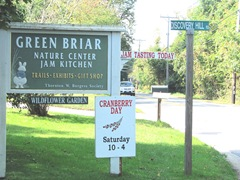 Cape Cod Columbus weekend 2012..Sat. Green Brier Jam kitchen sign