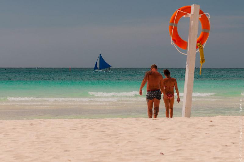 Мучной Белый пляж Боракая
