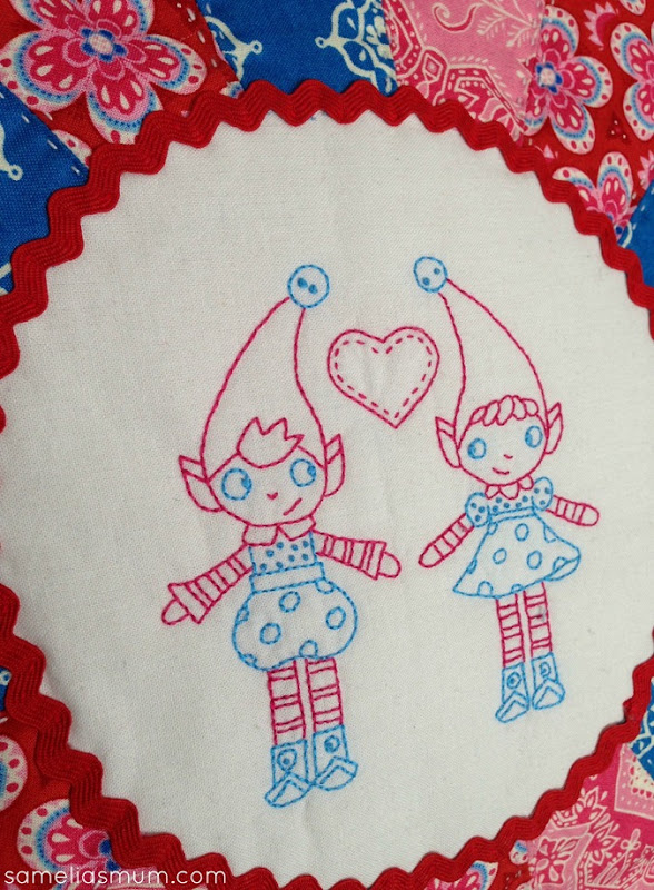 Elf Couple Stitchery