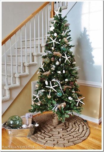 Coastal Christmas Tree - Sand and Sisal