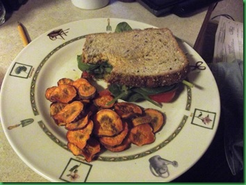spinach & tomato on whole grain