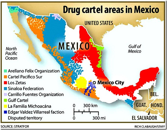 Mexican Drug Cartels Map lg