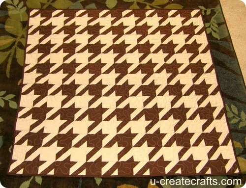 houndstooth quilt finished